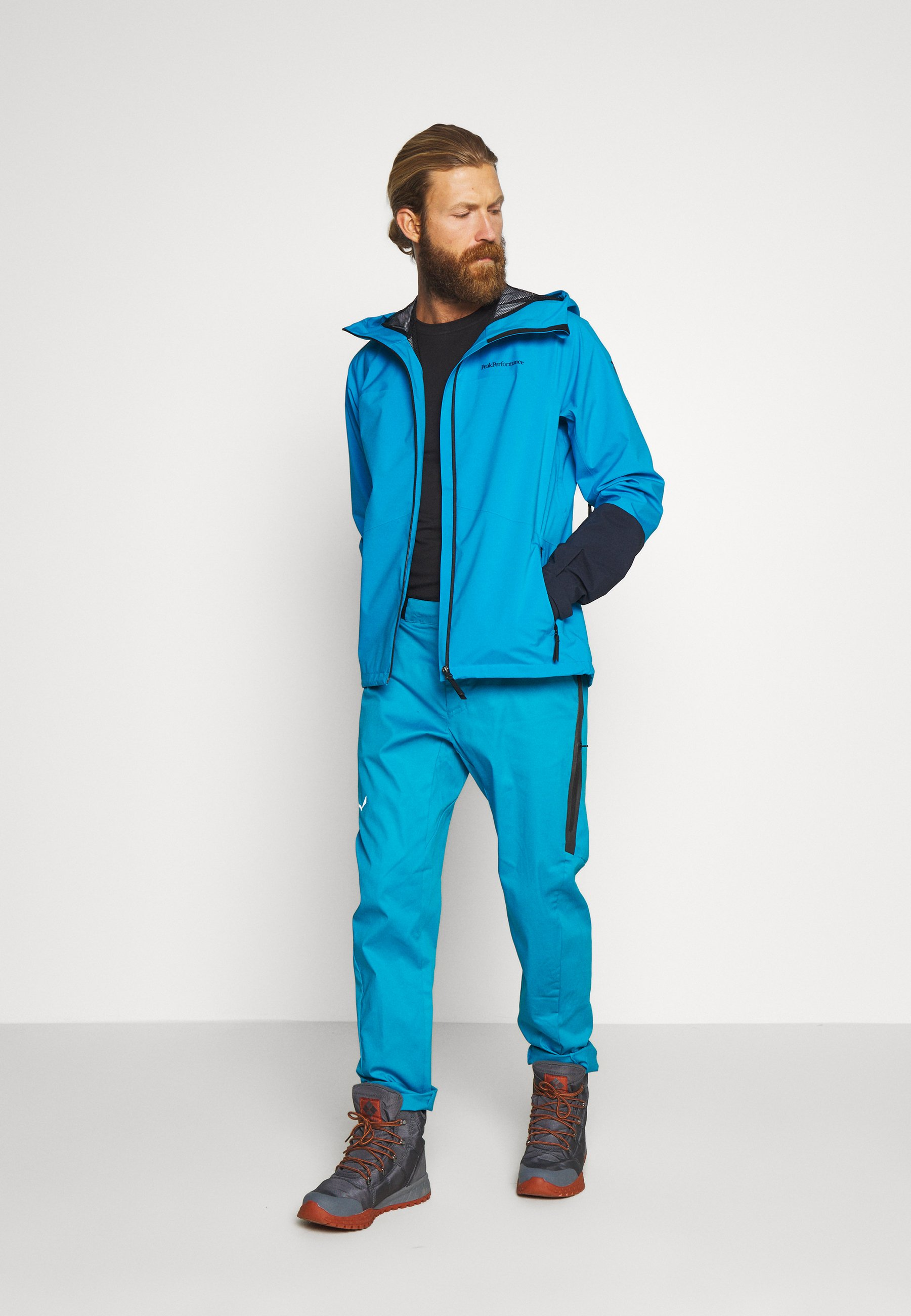 Salewa AGNER - Spodnie materiałowe - blue danube