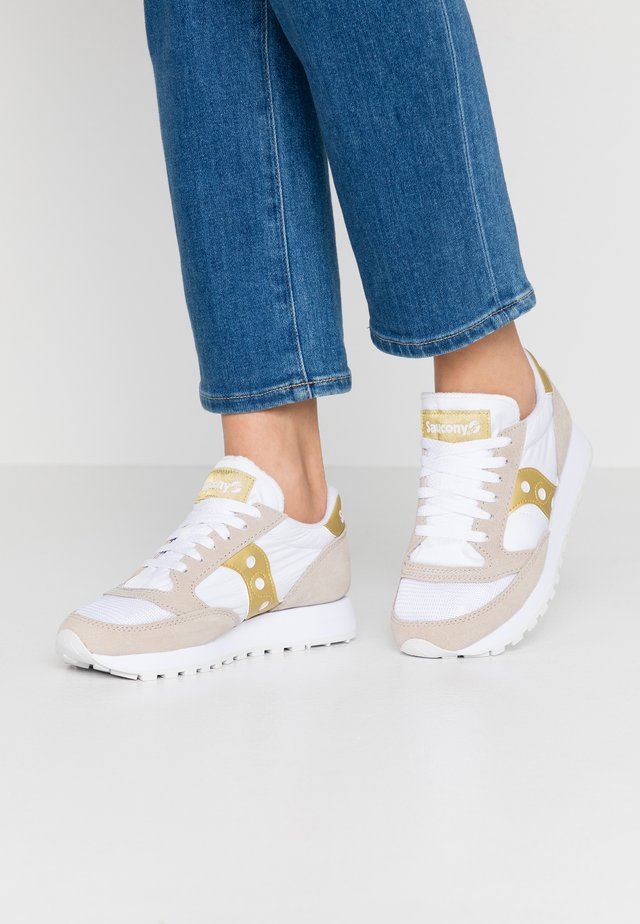 JAZZ VINTAGE - Sneakers basse - white/gold