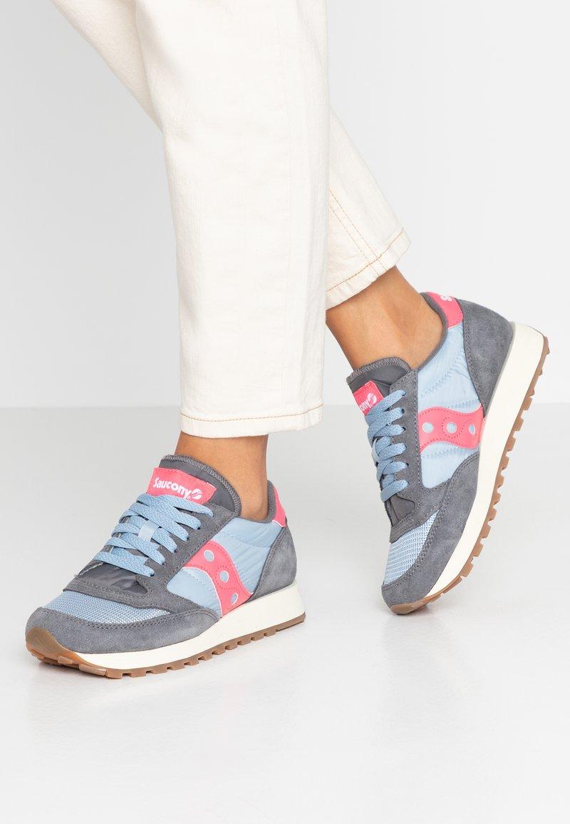 Saucony - JAZZ ORIGINAL VINTAGE - Sneakers laag - charcoal/blue fog/orange
