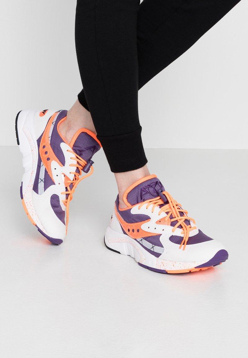 Saucony - AYA - Sneaker low - white/purple/orange