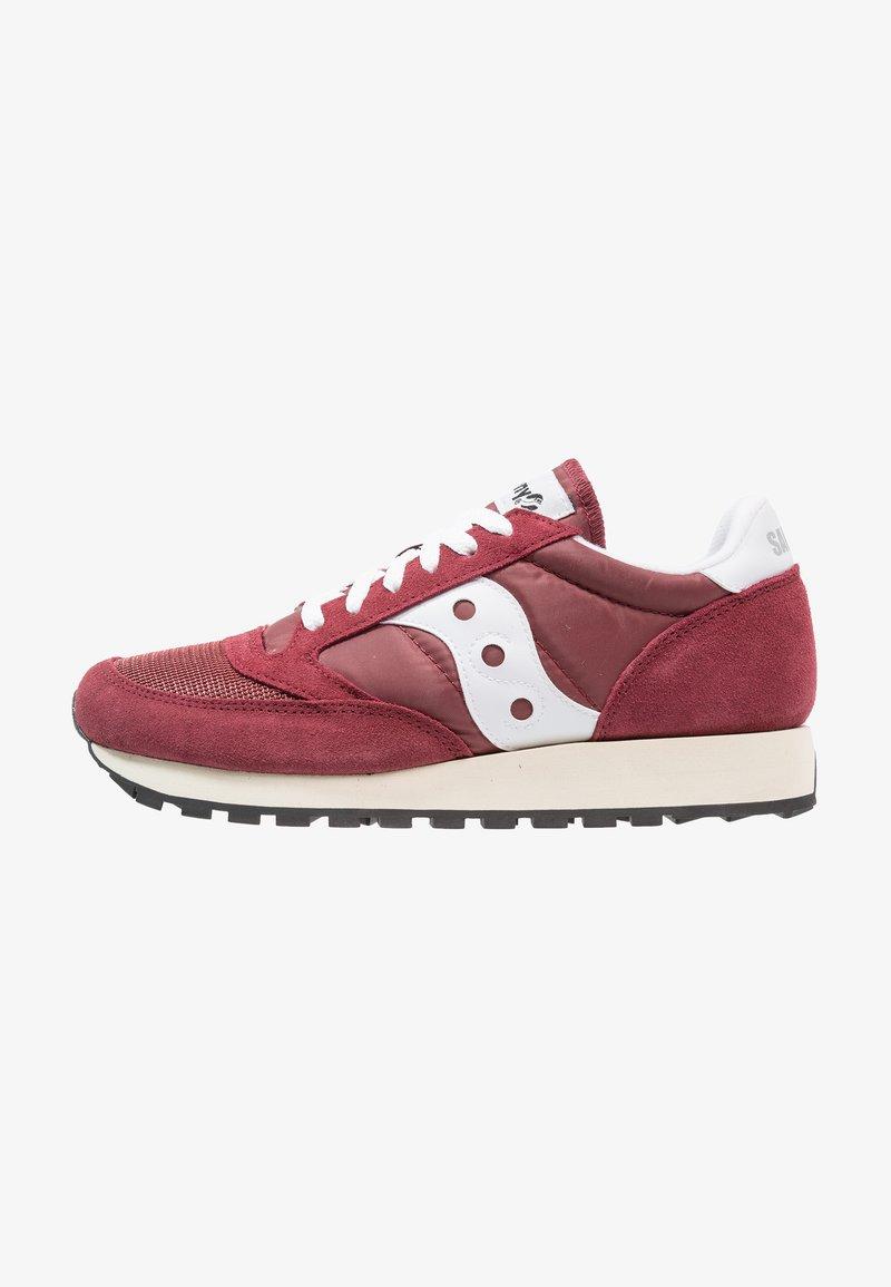 Saucony - JAZZ ORIGINAL VINTAGE - Sneakers basse - burgundy/white