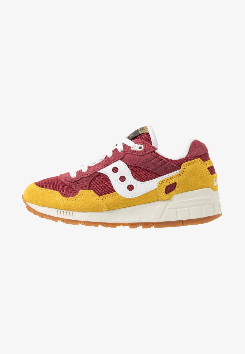 Saucony - SHADOW 5000 VINTAGE - Sneaker low - yellow/maroon/white