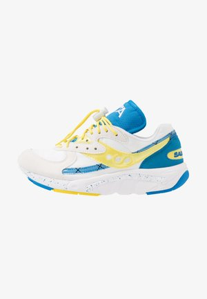 AYA - Sneakersy niskie - white/blazing yellow
