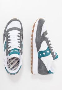 Saucony - JAZZ VINTAGE - Trainers - grey/white/teal - 1