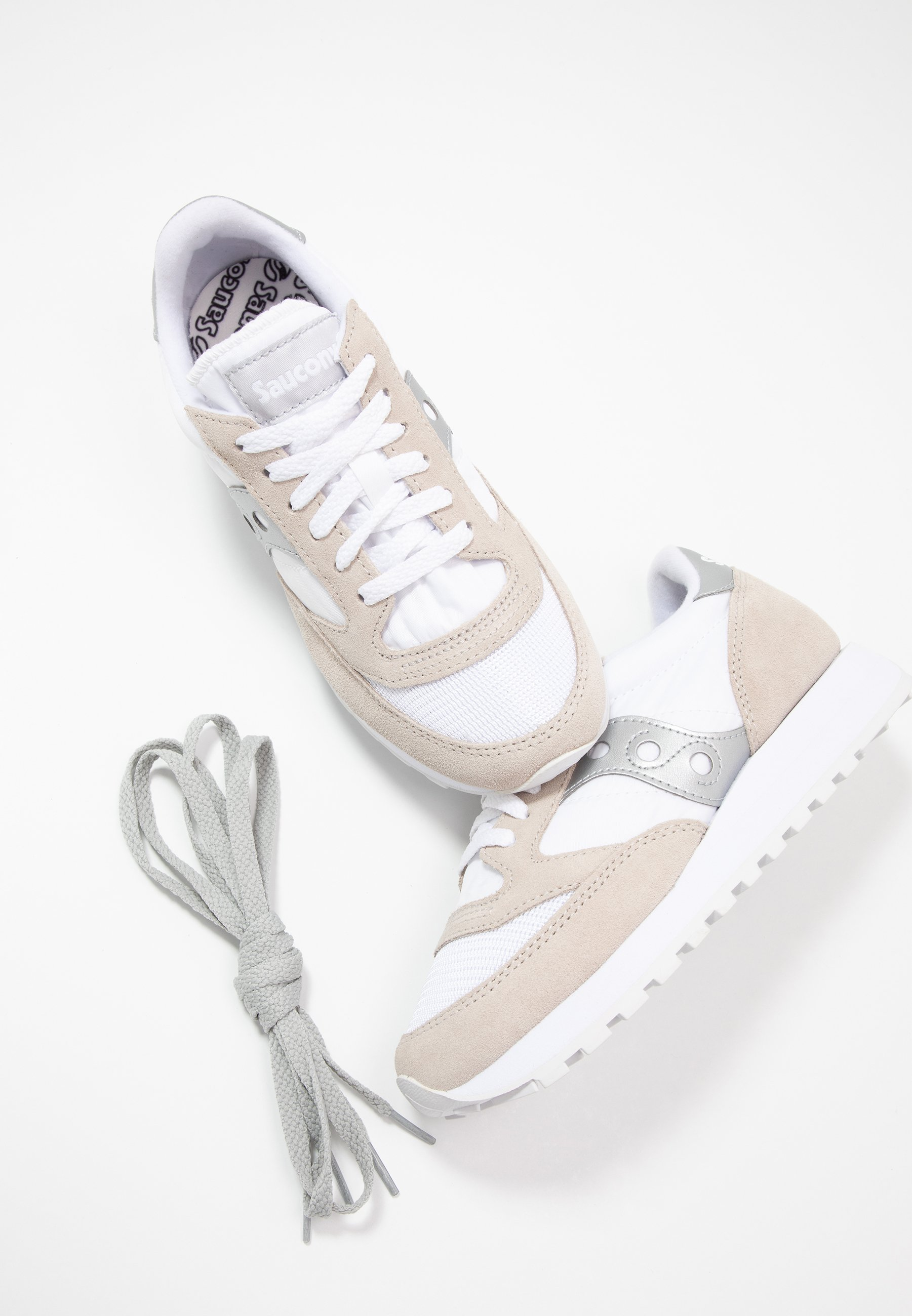 Saucony JAZZ VINTAGE - Sneakers - white/silver