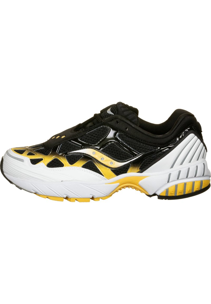 Saucony - SCHUHE GRID WEB - Baskets basses - white/black/yellow