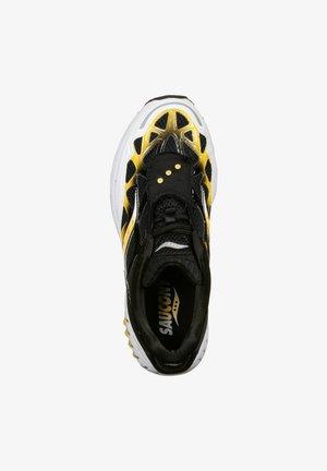 SCHUHE GRID WEB - Sneaker low - white/black/yellow