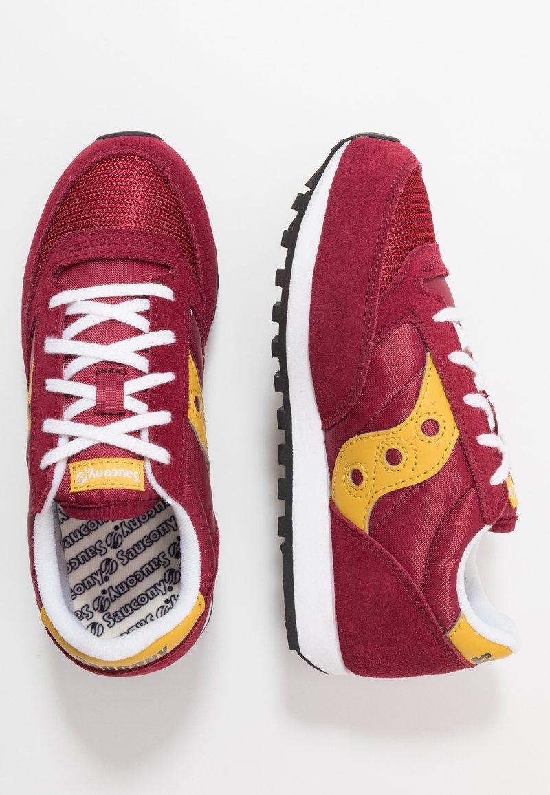 Saucony - JAZZ ORIGINAL VINTAGE - Sneakers laag - burgundy/mustard