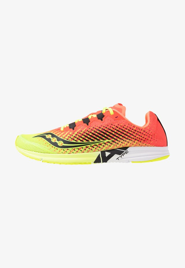 TYPE A9 - Competition running shoes - citron/pink