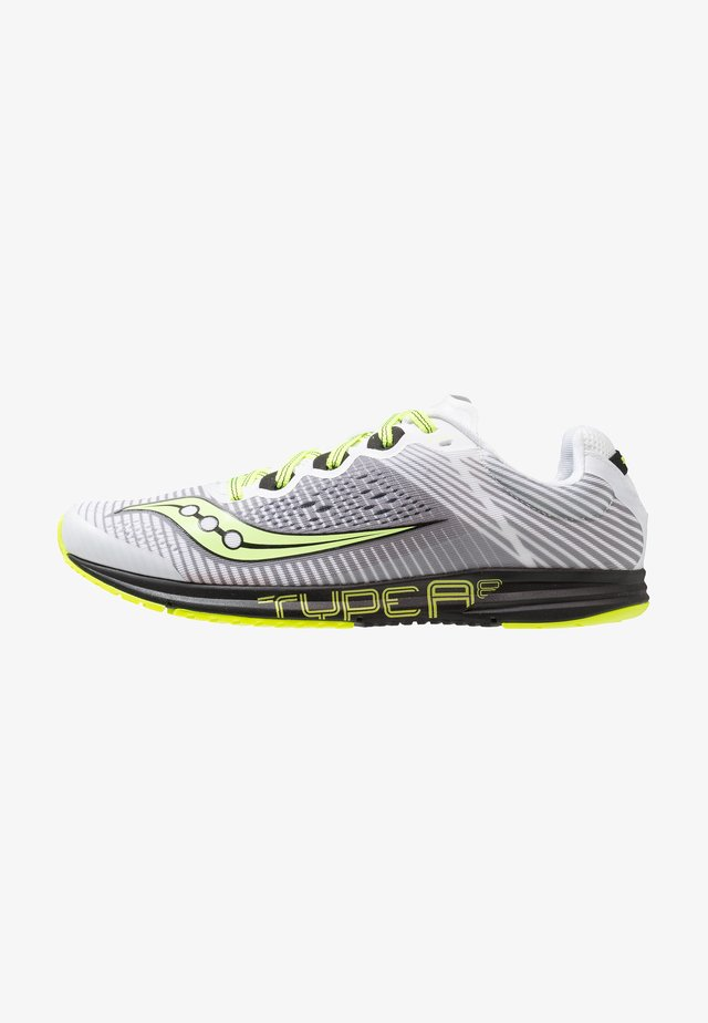 TYPE A8 - Competition running shoes - white/black/citron