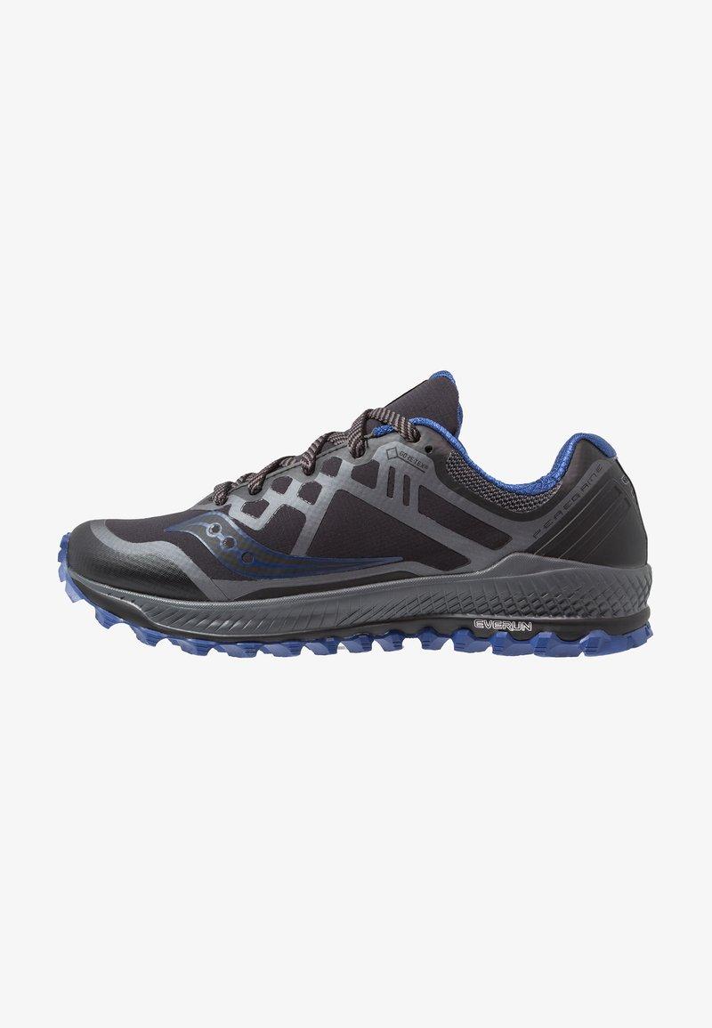 Saucony - PEREGRINE 8 GTX - Laufschuh Trail - black/grey/blue