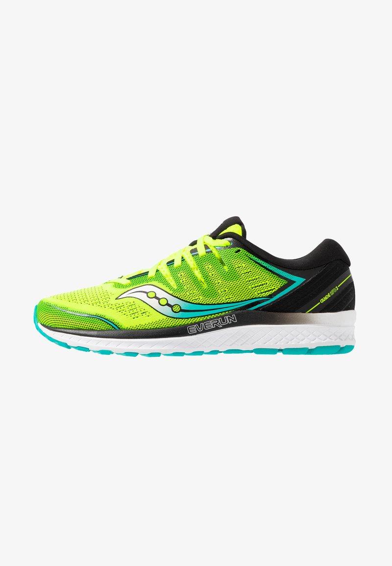 Saucony - GUIDE ISO 2 - Stabilní běžecké boty - citron/black