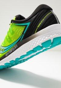 Saucony - GUIDE ISO 2 - Stabilní běžecké boty - citron/black - 5
