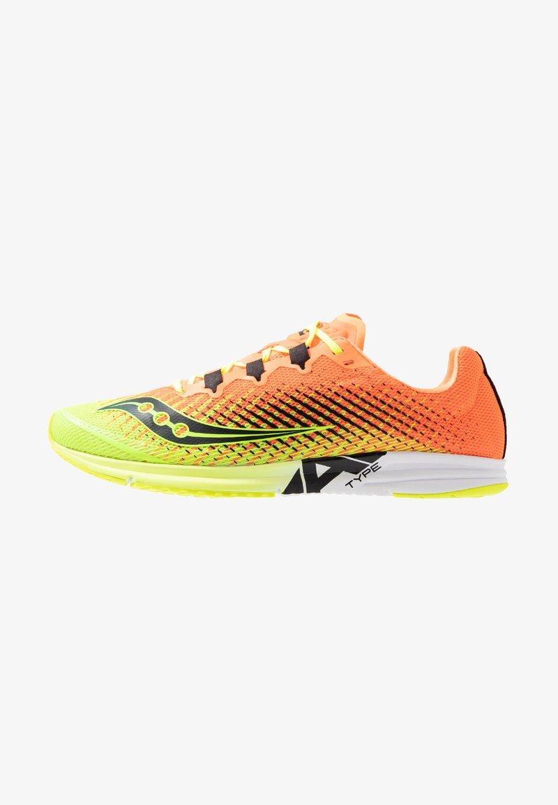 Saucony - TYPE A9 - Obuwie do biegania startowe - citron/orange