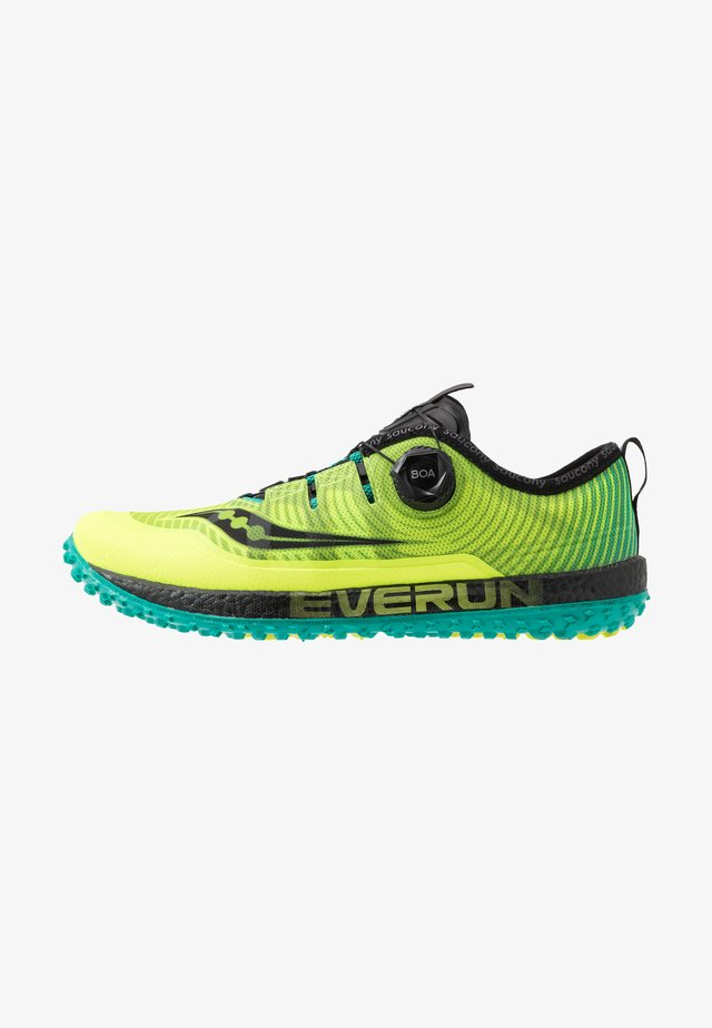 SWITCHBACK ISO - Trail running shoes - citron/black