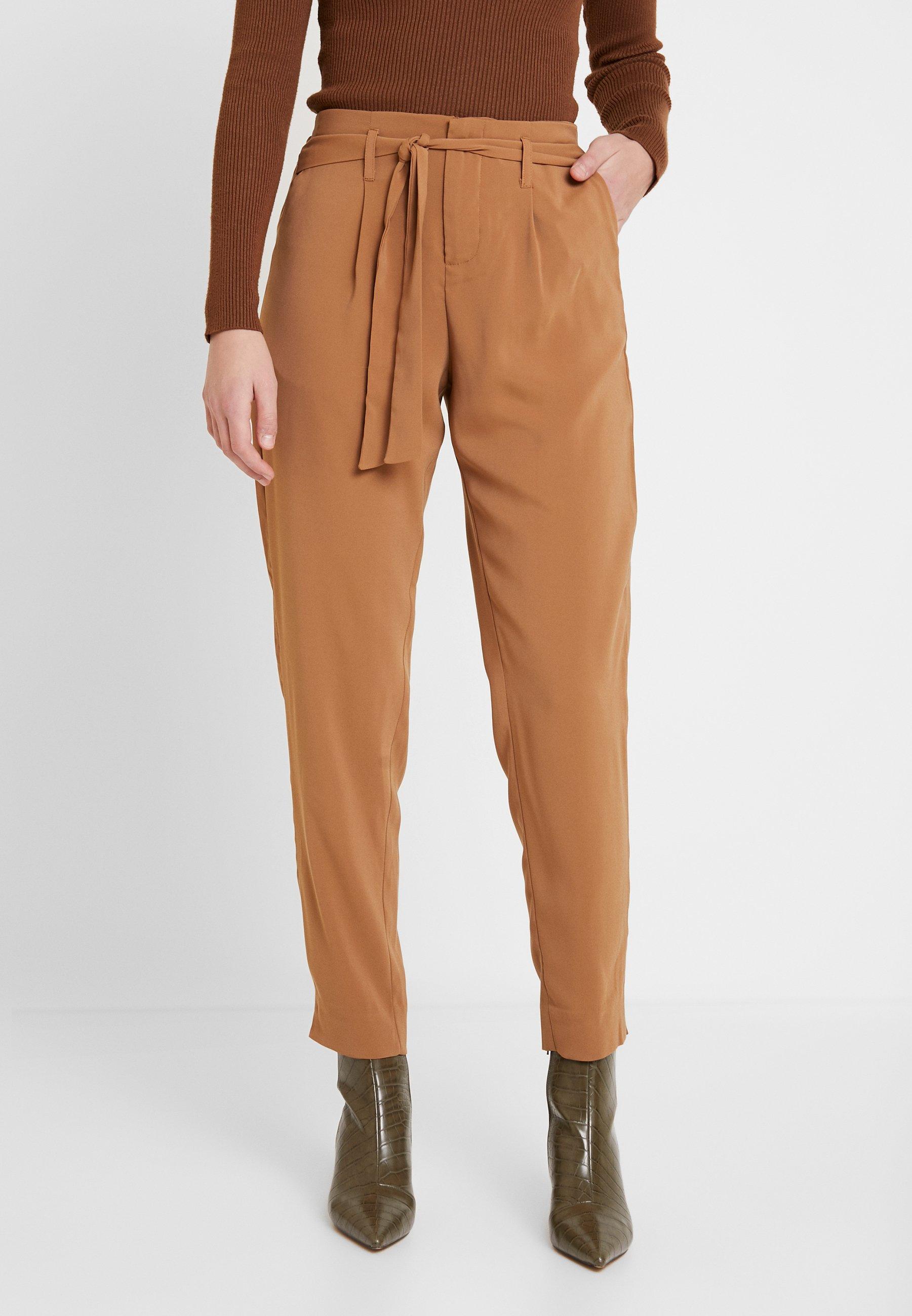 Saint Tropez BELTED PANT - Spodnie materiałowe - thrush
