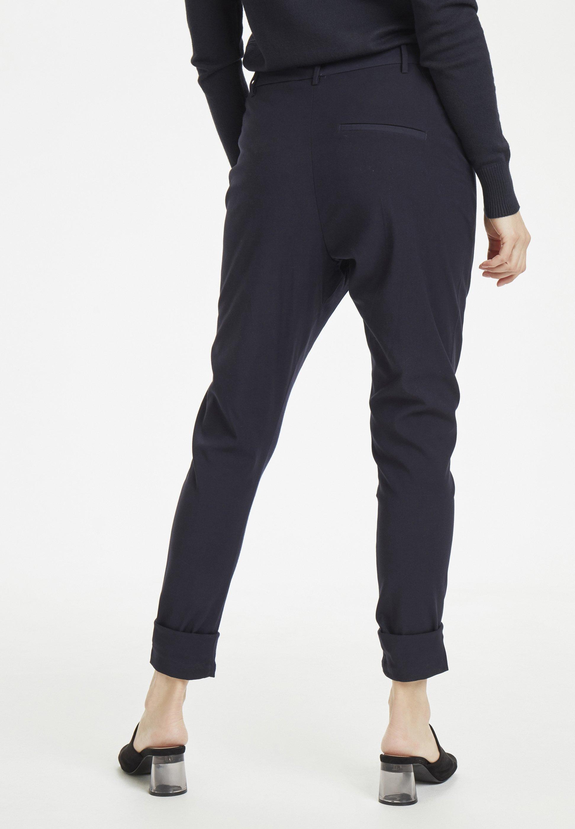 Saint Tropez NICOLESZ  - Spodnie materiałowe - deep blue