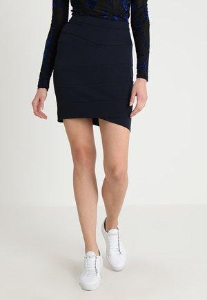 SKIRT CUT LINES - Pouzdrová sukně - dark blue