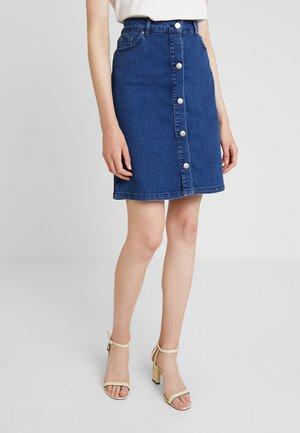 SKIRT ABOVE KNEE - A-line skirt - med blue