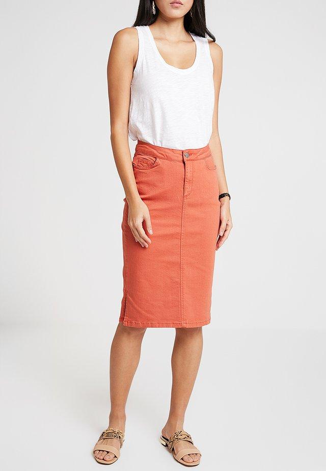 SKIRT ON KNEE - A-linjekjol - orange