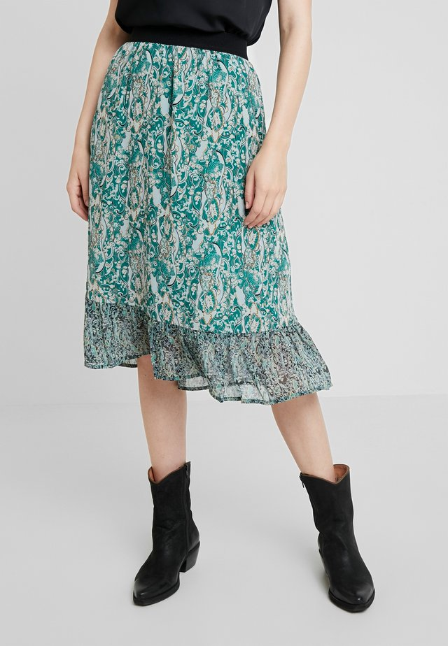 SKIRT BELLOW KNEE - Áčková sukně - evergreen