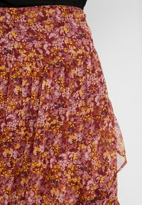 Saint Tropez - WOVEN MAXI SKIRT - Pleated skirt - rubin - 4