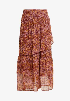 WOVEN MAXI SKIRT - Gonna a pieghe - rubin