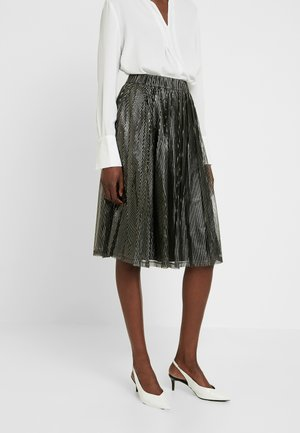 SKIRT BELLOW KNEE - A-linjekjol - gold