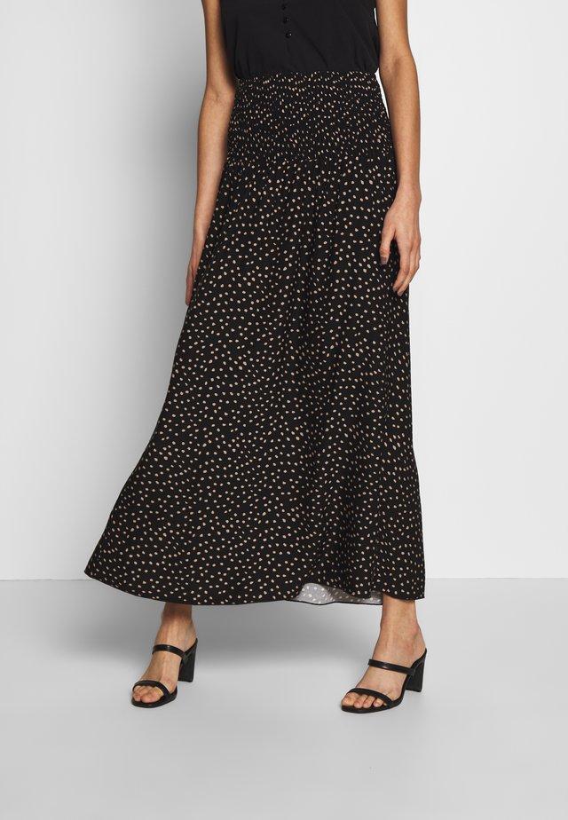 OLGASZ SKIRT MAXI - Pleated skirt - black