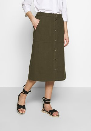 LIVA - A-line skirt - army green