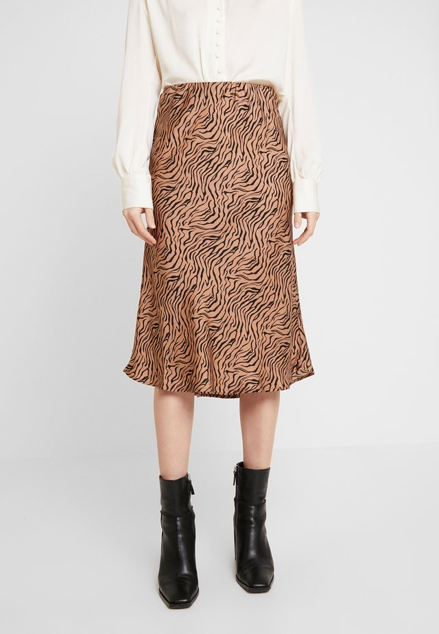 PEARL SKIRT - A-Linien-Rock - raw umber