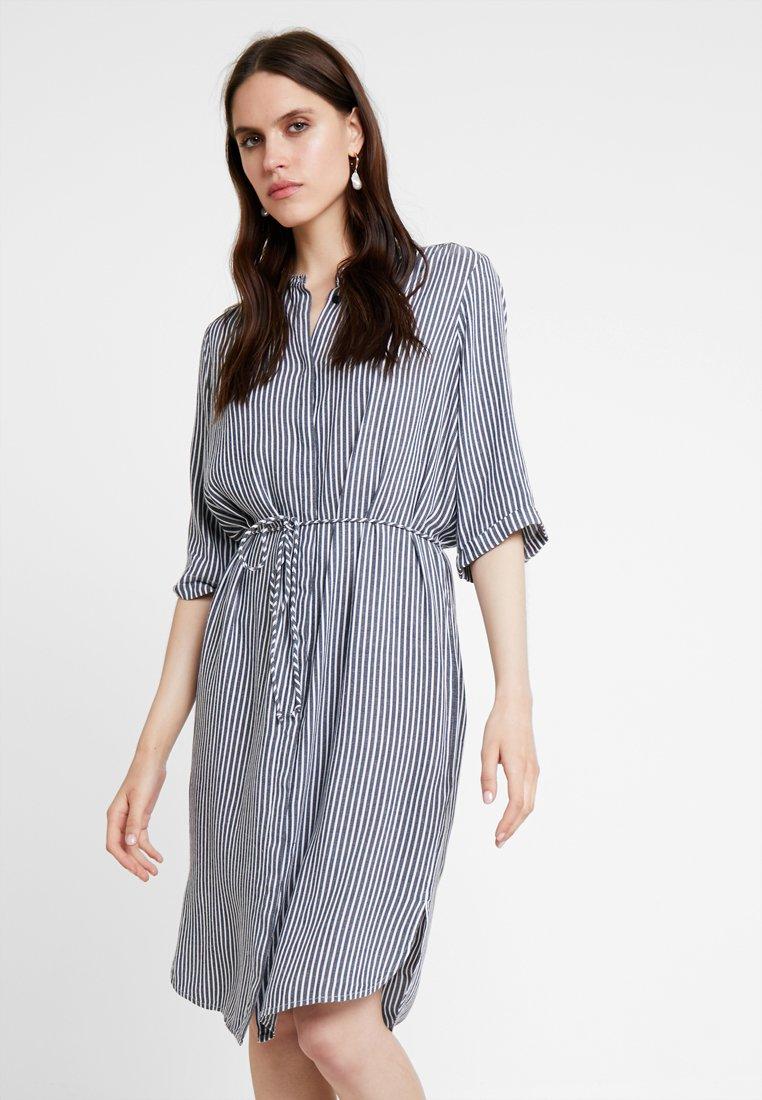 Saint Tropez - DRESS BELOW KNEE - Shirt dress - blue deep