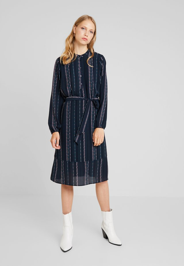 DRESS BELLOW KNEE - Blusenkleid - dark blue