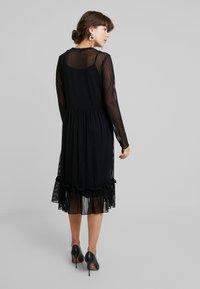 Saint Tropez - STRIPED DRESS - Korte jurk - black - 3