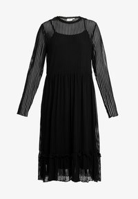 Saint Tropez - STRIPED DRESS - Korte jurk - black - 4