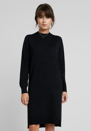 DRESS - Stickad klänning - black