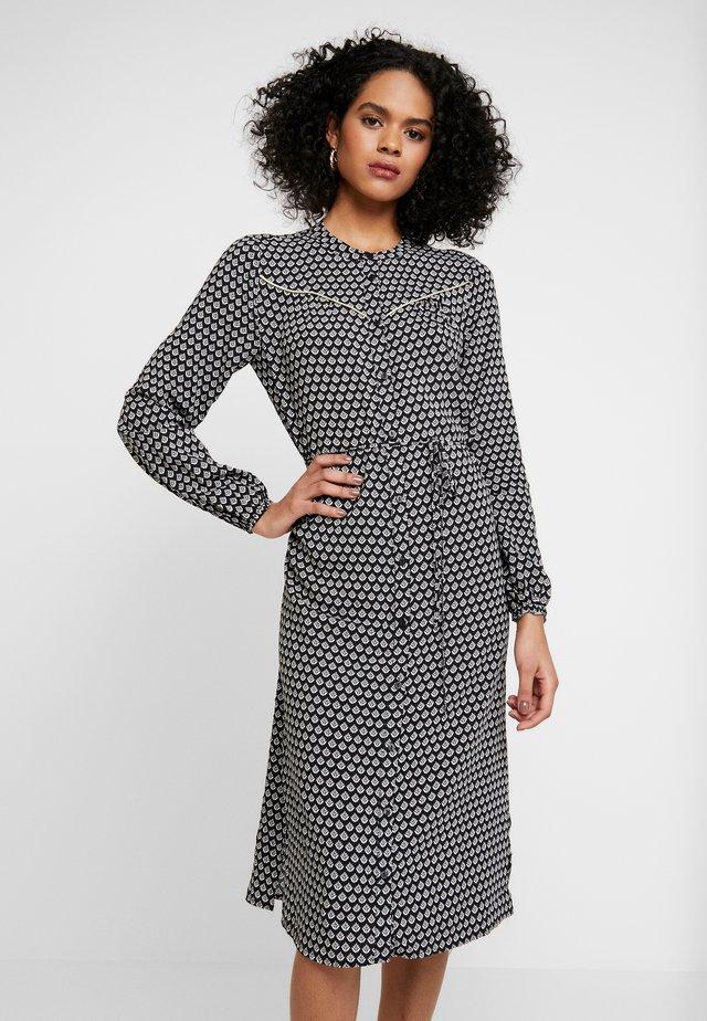 WOVEN DRESS BELLOW KNEE - Blusenkleid - black