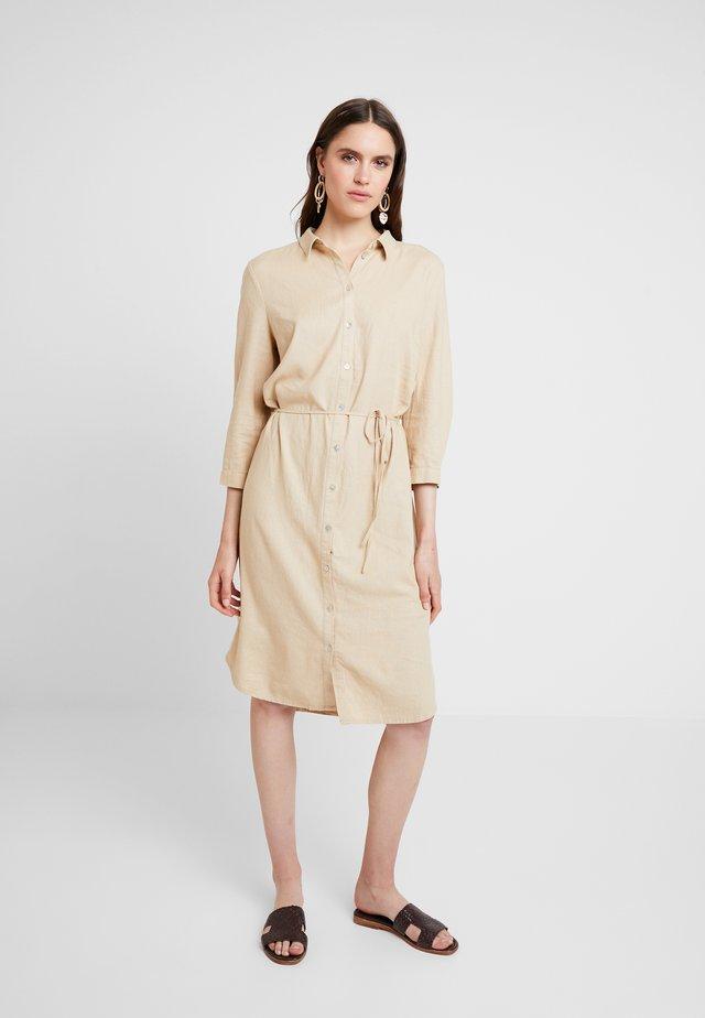 DRESS - Shirt dress - cream
