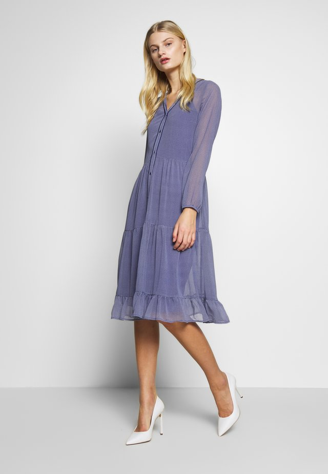 CRYSTAL DRESS - Shirt dress - blue deep