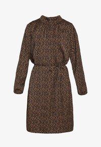 Saint Tropez - TIEAL DRESS - Denní šaty - black/berry flower - 5