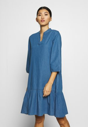 UFELIA DRESS - Denim dress - bright cobalt denim