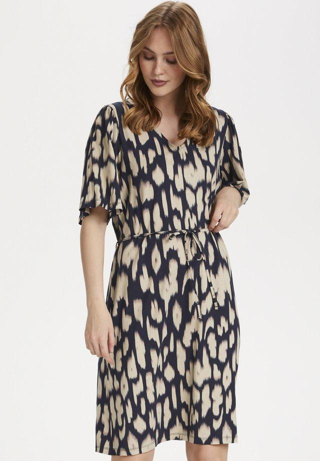 CAMSZ  - Jersey dress - blue deep animal skin