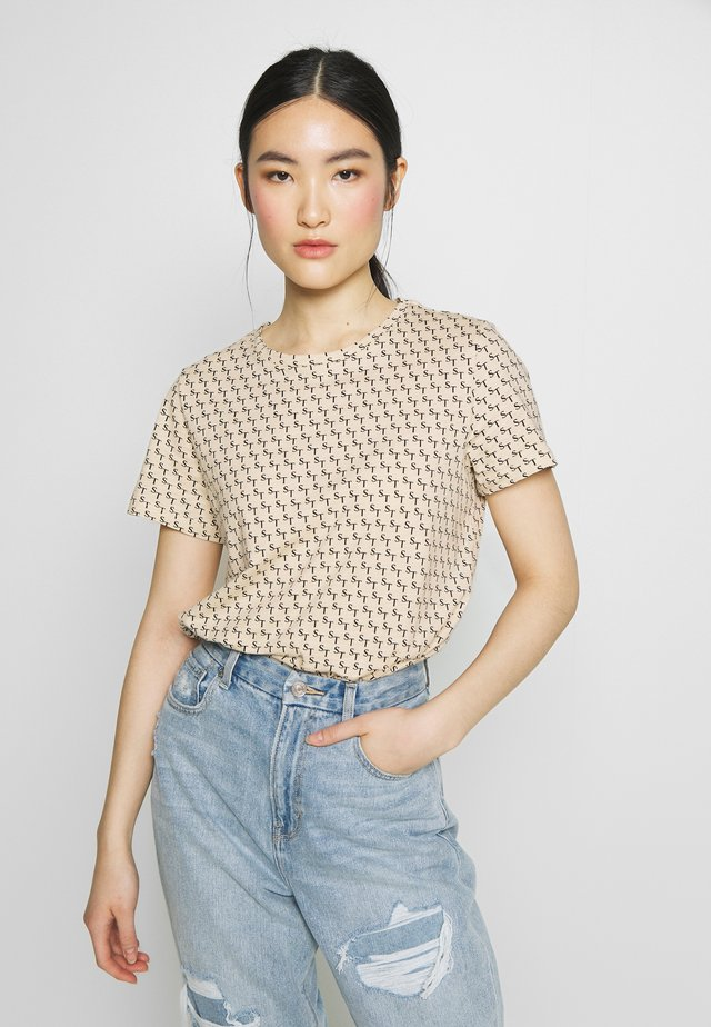 TEE - T-Shirt print - creamtan