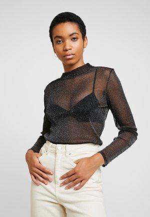 SHIMMER - Long sleeved top - black