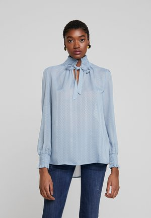 BLOUSE SMOCK NECK - Blouse - smoke