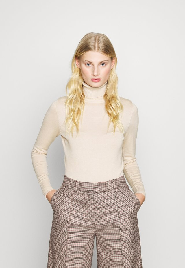 ROLL NECK - Neule - creme