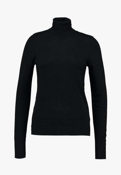 dobrze rozwinięty Saint Tropez ROLL NECK - Sweter - black Odzież Damska IQGV-ZD6