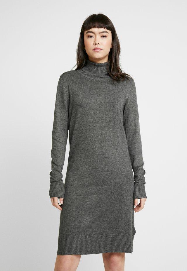 DRESS HIGH NECK - Neulemekko - grey