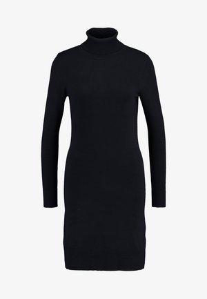 DRESS HIGH NECK - Pletené šaty - black