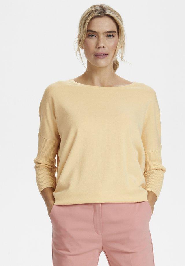 MILA NECK - Jersey de punto - yellow